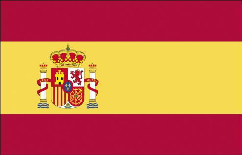 Stockländerfahne - Spanien - Gr. ca. 40x30cm - 77154 - Schwenkfahne mit Holzstock, Länder-Flagge