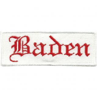 AUFNÄHER - Baden - 00485 - Gr. ca. 8 x 2, 5cm Stick Patches Applikation Abzeichen Emblem
