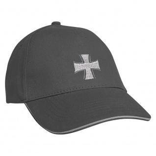 Baseballcap mit Einstickung Eisernes Kreuz 68284 grau