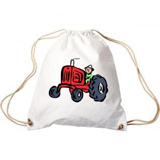 Sporttasche mit Aufdruck - roter Traktor - 65054 - Trend-Bag Turnbeutel Rucksack