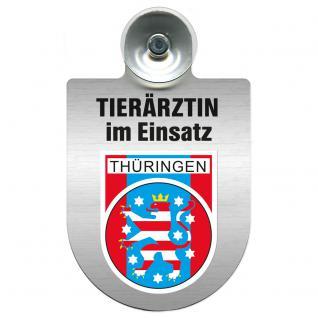 Einsatzschild für Windschutzscheibe incl. Saugnapf - Tierärztin im Einsatz - 309474-13 - Region Thüringen