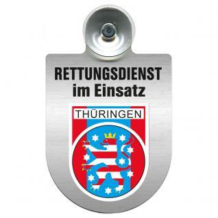 Einsatzschild Windschutzscheibe incl. Saugnapf - Rettungsdienst im Einsatz - 309354-13 - Region Thüringen