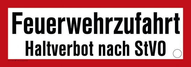 Hinweisschild - Warnschild - Feuerwehr Halteverbot nach STVO - Gr. ca. 59 x 21 cm - 307756/1 -