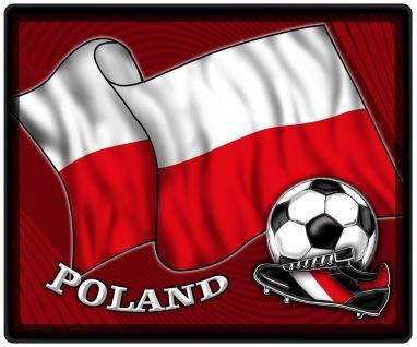 Mousepad Mauspad mit Motiv - Polen Fahne Fußball Fußballschuhe - 83132 - Gr. ca. 24 x 20 cm