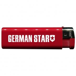 Einwegfeuerzeug mit Motiv - Trucker - German Star - 01159 versch. Farben rot