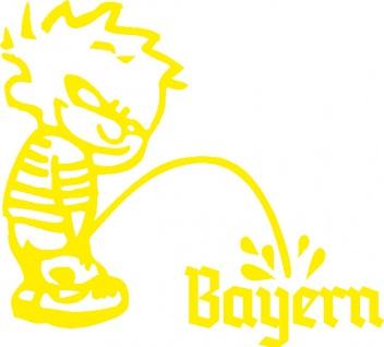 Aufkleber Applikation - Pinkelmänchen Bayern - 303626-1 - links - gelb / 15cm