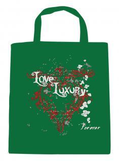 (U10835)Umweltfreundliche Baumwoll - Tasche , ca. 28 x 43 cm mit Aufdruck in 7 Farben grün