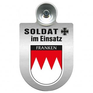 Einsatzschild Windschutzscheibe incl. Saugnapf - Soldat im Einsatz - 309392 - Region Franken