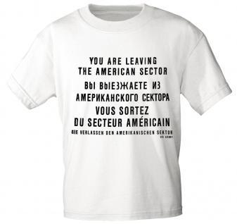 T-Shirt mit Print - Berlin - 10687 weiß - Gr. S