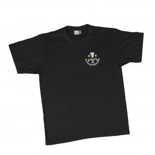 T-Shirt mit Print - Schornsteinfeger - 09965 schwarz - Gr. L