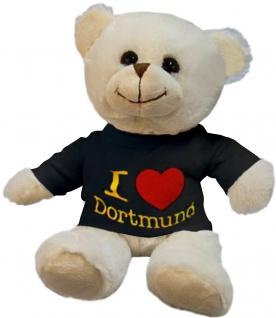 Plüsch - Teddybär mit Shirt - I Love Dortmund - 27063 - Größe ca 26cm