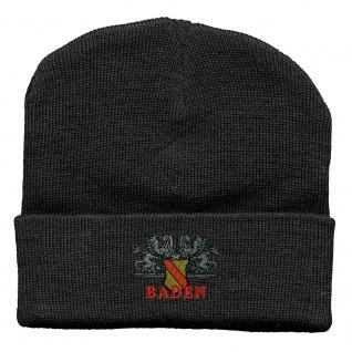 Hip-Hop Mütze Wappen Baden Wappen Emblem 51257 schwarz