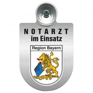 Einsatzschild Windschutzscheibe incl. Saugnapf - Notarzt im Einsatz - 309353 Region Bayern