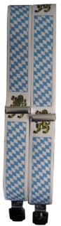 Hosenträger mit Print - Bayernraute mit Loewe - 06719 - Vorschau