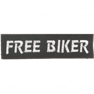 AUFNÄHER - Free Biker - 04047 - Gr. ca. 11 x 3 cm - Patches Stick Applikation