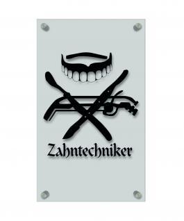 Zunftschild Handwerkerschild - Zahntechniker - beschriftet auf edler Acryl-Kunststoff-Platte ? 309401 schwarz