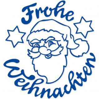 """Wandtattoo/ Dekorfolie mit Motiv """" Santa"""" in 8 Farben und 3 Größen WD0825 blau / 90 cm"""