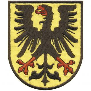 AUFNÄHER - Wappen - Dortmund Adler - 00403 - Gr. ca. 7 x 8, 5 cm - Patches Stick Applikation