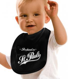 Baby-Lätzchen mit Druckmotiv - Produced in St. Pauli - 08484 - schwarz