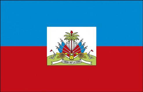 Autoscheiben-Flagge - Haiti - Gr. ca. 40x30cm - 78062 - Flagge mit Klemmstab - Autoländerfahne