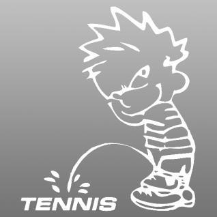 Pinkelmännchen-Applikations- Aufkleber - ca. 15 cm - Tennis - 303643 - weiß
