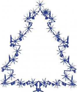 """Wandtattoo/ Dekorfolie mit Motiv """" Christbaum"""" Ø 90cm Länge max.100 cm, in 11 Farben WD0810 blau"""