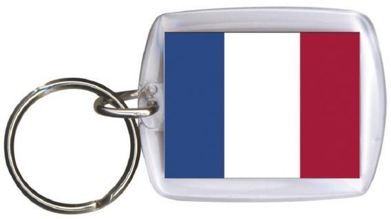 Schlüsselanhänger Anhänger - FRANKREICH - Gr. ca. 4x5cm - 81051 - WM Länder