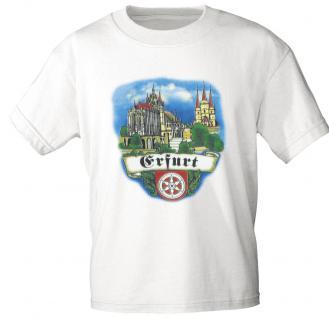 T-Shirt unisex mit Aufdruck - ERFURT - 09309 weiß - Gr. L