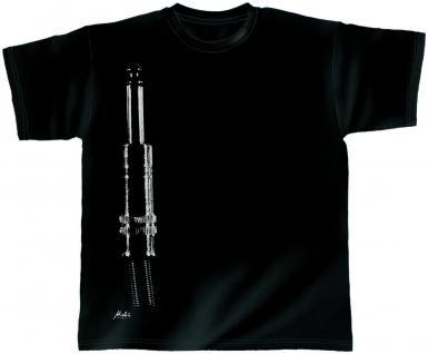 T-Shirt unisex mit Print - Crew - von ROCK YOU MUSIC SHIRTS - mit zweiseitigem Motiv - 10398 schwarz - Gr. XXL