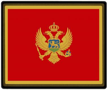 Mousepad Mauspad mit Motiv - Montenegro Fahne Fußball Fußballschuhe - 82112 - Gr. ca. 24 x 20 cm