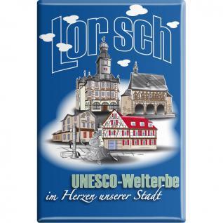 Magnet - Unesco-Welterbe Lorsch - Gr. ca. 8 x 5, 5 cm - 38775 - Kühlschrankmagnet Küchenmagnet