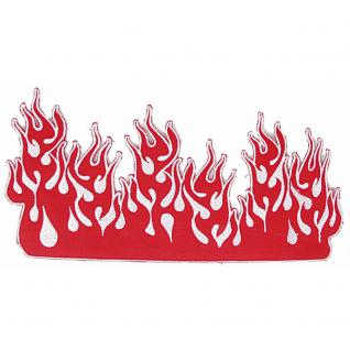 Aufnäher - Flammen - 08525 - Gr. ca. 26 x 13, 5 cm - Patches Stick Applikation