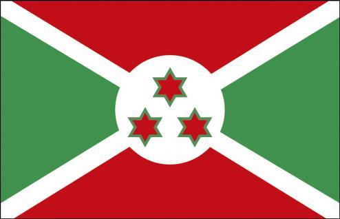 Auto-Fahne - Burundi - Gr. ca. 40x30cm - 78034 - Länderflagge mit Klemmstab, Autoländerfahne