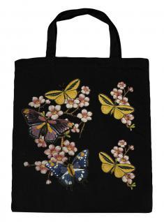 (06991-2)Umweltfreundliche Baumwoll - Tasche , ca. 28 x 43 cm mit Aufdruck in 7 Farben schwarz