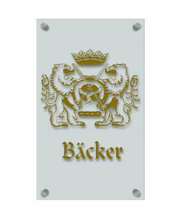 Zunftschild Handwerkerschild - Bäcker - beschriftet auf edler Acryl-Kunststoff-Platte ? 309430