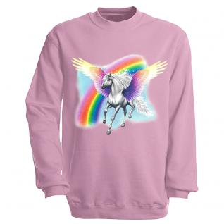 "Sweat- Shirt mit Motivdruck in 7 Farben "" Pegasus"" S12664 rosa / S"