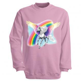 "Sweat- Shirt mit Motivdruck in 7 Farben "" Pegasus"" S12664 rosa / XL"