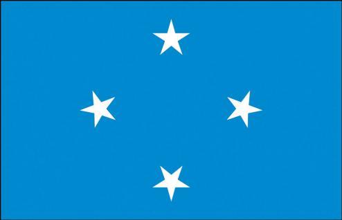 Schwenkflagge - Mikronesien - Gr. ca. 40x30cm - 77108 - Länderflagge Stockländerfahne