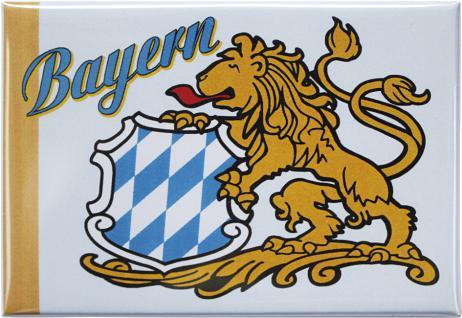 Kühlschrankmagnet - BAYERN Wappen Löwe - Gr. ca. 8 x 5, 5 cm - 38561 - Küchenmagnet