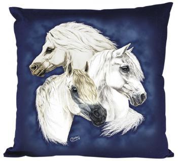 Kissen - WELSH-Pony - Gr. ca. 40x40cm - 09109 - Zierkissen Dekokissen