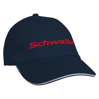 Baseballcap mit Einstickung Schwalbe 68211 Navy