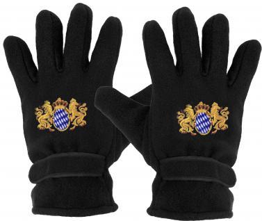 Handschuhe - Fleece - Bayern Wappen - Löwe - 31050 - Vorschau