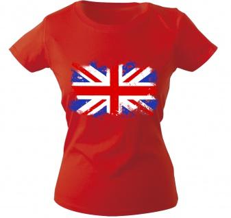 Girly-Shirt mit Print Flagge Fahne Union Jack Großbritannien G12122 Gr. rot / XL
