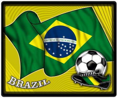 Mousepad Mauspad mit Motiv - Brasilien Fahne Fußball Fußballschuhe - 83028 - Gr. ca. 24 x 20 cm