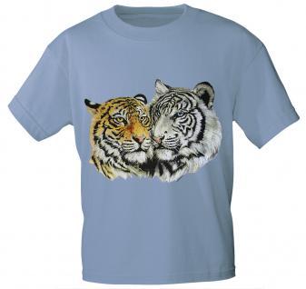 T-Shirt mit Print - Tiger - 10848 - versch. Farben zur Wahl - hellblau / XXL