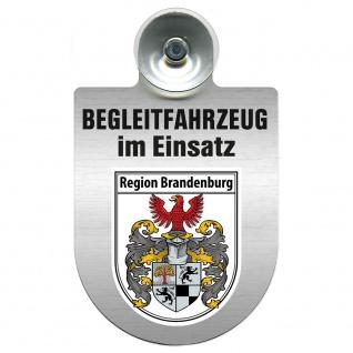 Einsatzschild Windschutzscheibe incl. Saugnapf - Begleitfahrzeug im Einsatz - 309457 - Region Brandenburg