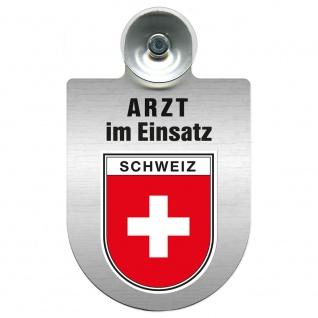 Einsatzschild Windschutzscheibe incl. Saugnapf - Arzt im Einsatz - 309352 Region Schweiz