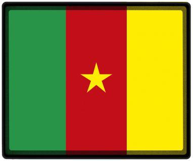 Mousepad Mauspad mit Motiv - Kamerun Fahne Fußball Fußballschuhe - 82076 - Gr. ca. 24 x 20 cm