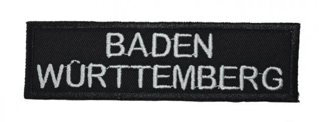 AUFNÄHER - Baden Württemberg - 00028 - Gr. ca. 11, 5 x 3, 5cm Stick Applikation Patches