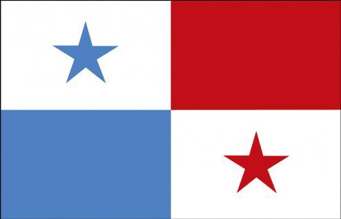Schwenkfahne mit Holzstock - Panama - Gr. ca. 40x30cm - 77126 - Flagge, Fahne, Stockländerfahne